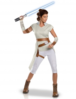 Offizielles Rey™-Kostüm Star Wars: Der Aufstieg Skywalkers™ weiß-braun