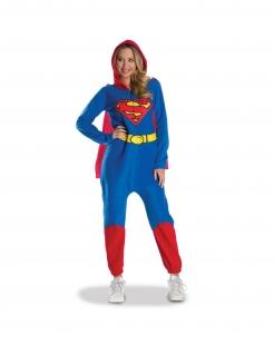 Bequemes Supergirl™-Kostüm für Damen blau-rot-gelb