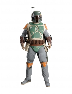 Boba-Fett-Kostüm Sammler-Edition Star-Wars™-Cosplay grau-grün-orange