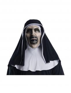 The-Nun™-Maske für Erwachsene mit Haube schwarz-weiß