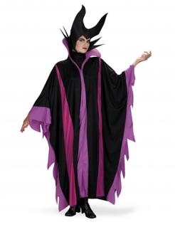 Drachen-Magierin-Kostüm dunkle Fee Halloween schwarz-lila