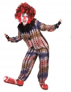 Grusel-Clown-Kostüm für Kinder bunt