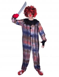 Horrorclown-Kostüm Halloween-Overall bunt