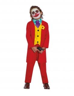 Clown-Kostüm für Jungen Filmkostüm Arthur Halloween rot-gelb