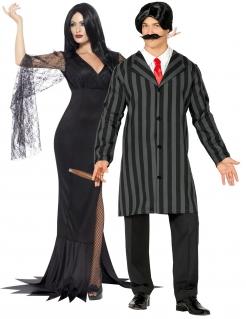 Gothic-Paarkostüm Filmkostüm Halloweenkostüm schwarz