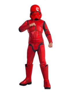 Sith Trooper™-Kostüm für Kinder Star Wars™ Halloweenkostüm rot