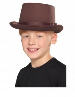 Retro-Hut für Kinder Steampunk-Accessoire Halloween braun