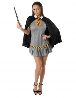Zauberschülerin-Kostüm Film-Kostüm für Damen grau-schwarz