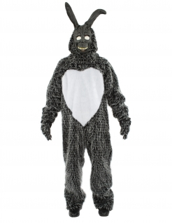 Killerhasen-Kostüm Halloween-Overall grau-weiss