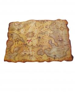 Piraten-Schatzkarte aus Kunststoff bunt 29 x 45 cm