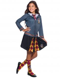 Offizielles Hermine-Kostüm für Mädchen Gryffindor™-Kostüm Harry Potter™ grau-rot-gelb