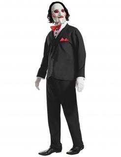 Saw™-Kostüm für Erwachsene Halloween-Verkleidung schwarz-weiss-rot
