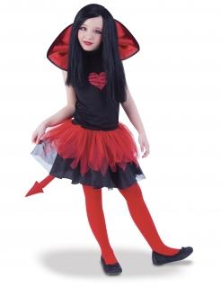 Teufel-Kostüm für Kinder Halloween rot-schwarz