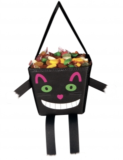 Grinsekatze Happy Halloween-Tasche für Kinder bunt 17 cm