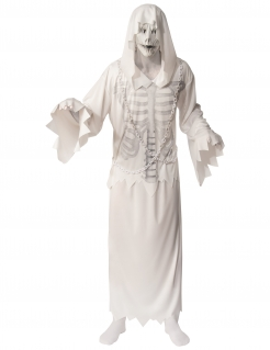 Geister-Skelett-Kostüm für Herren Halloweenkostüm weiss