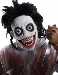 Psychokiller-Maskefür Herren Halloweenkostüm schwarz-weiss-rot