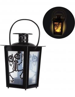 Halloween-Laterne mit Licht 8 x 8 x 15 cm