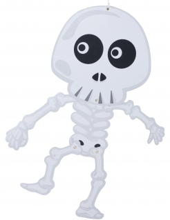 Skelett-Deko zum Aufhängen 70cm weiss