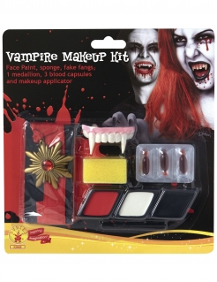 Vampir-Make-up-Set mit Halsband Halloween-Make-up bunt