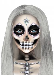 Glitzersteine zu Halloween für Skelett-Make-Up Halloween