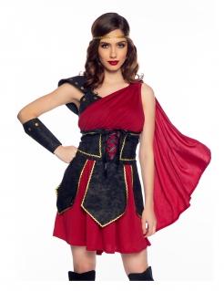 Sexy Gladiatoren-Kostüm für Damen rot-schwarz