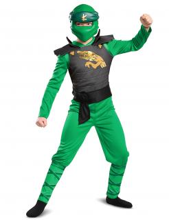 Lloyd-Ninjago™-Kostüm für Kinder Legacy Halloween grün-schwarz-gold