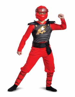 Ninjago™-Kai-Kostüm für Kinder Legacy Halloween rot-schwarz-gold