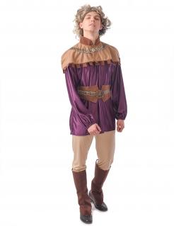 Mittelalter-Kostüm für Herren Prinz lila-braun
