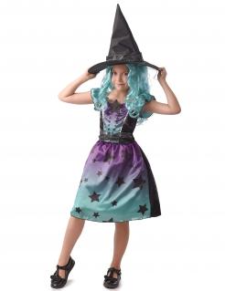 Himmlisches Hexen-Kinderkostüm schwarz-blau-violett