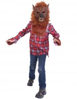 Werwolf-Kostüm für Kinder Halloween braun-rot