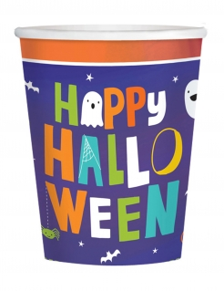Happy Halloween-Trinkbecher 16 Stück bunt 250 ml