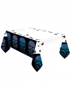 Totenkopf-Tischdecke Boneshine Fever Halloween-Deko schwarz-weiss-violett 1,2x1,8 m