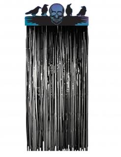 Tür-Vorhang Boneshine Fever Halloween-Partydeko schwarz-blau 2,30x1m