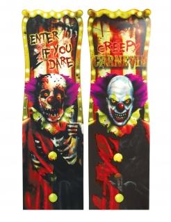 Horror-Clown-Deko Zirkus-Schild 1 Stück 94 x 30 cm