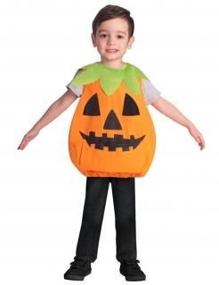 Kürbis-Kinderkostüm für Kinder Tunika orange-schwarz-grün