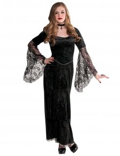 Schickes Vampir-Kostüm für Jugendliche Halloweenkostüm schwarz