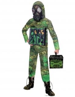 Radioaktives Alien-Kostüm für Kinder Halloweenkostüm grün