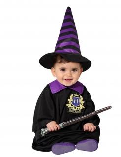 Verzauberndes Zauberlehrling-Babykostüm schwarz-lila