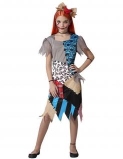 Flicken-Mädchen-Kostüm Halloween bunt