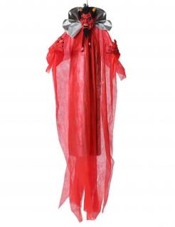 Teufel-Hängedeko für Halloween rot 190 cm