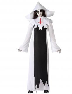 Geister-Nonne-Kostüm für Damen Kostüm für Halloween schwarz-weiss
