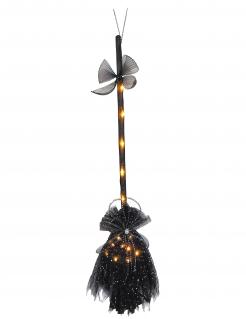 Leuchtender Hexenbesen schwarz 90 cm