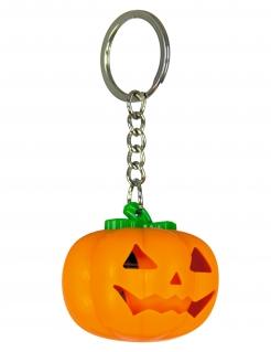 Leuchtender Kürbis-Schlüsselanhänger Halloween orange
