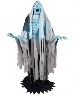 Animiertes Frost-Skelett Dekofigur blau-grau-schwarz 240 cm