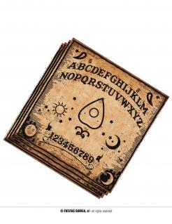 Mystische Ouija-Servietten Halloween-Tischdeko 20 Stück braun-schwarz 33 x 33 cm