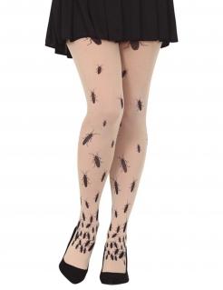 Eklige Ungeziefer-Strumpfhose für Erwachsene Halloween-Accessoire schwarz-weiß
