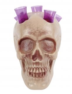 Trinkspiel-Totenschädel Halloween-Partydeko grau 20 cm