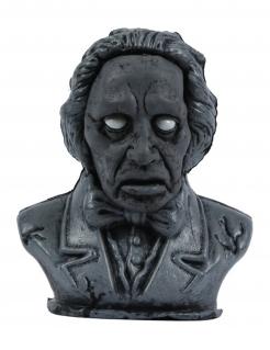 Besessene Skulptur mit Licht- und Soundeffekten grau 34 cm