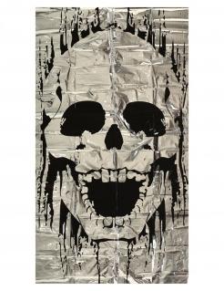 Totenkopf-Tür-Deko Halloween schwarz-weiss 75 x 150 cm