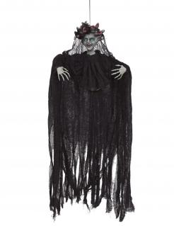 Animierte Medusa-Hängedeko Haloween-Figur schwarz-grau 120 cm